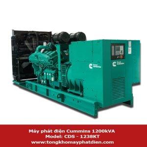 Máy phát điện Cummins 1200kVA model CDS-1238KT động cơ V12