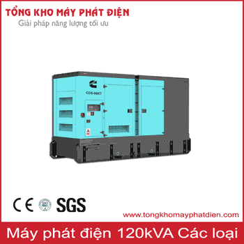 Máy phát điện 120kVA các hãng