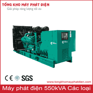 Máy phát điện công suất 550kVA 3 pha