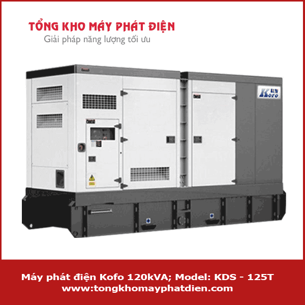 Máy phát điện Kofo 120kVA KDS - 125T