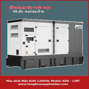 Máy phát điện Kofo 125kVA KDS - 138T