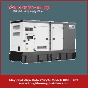 Máy phát điện Kofo 25kVA KDS-28T