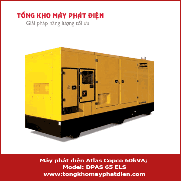 Máy phát điện Atlas Copco 60kVA 3 pha
