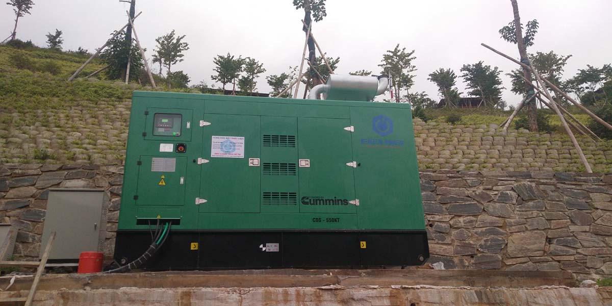Máy phát điện công nghiệp Cummins 500kVA và tủ điện ATS 1000A chuyển nguồn tự động