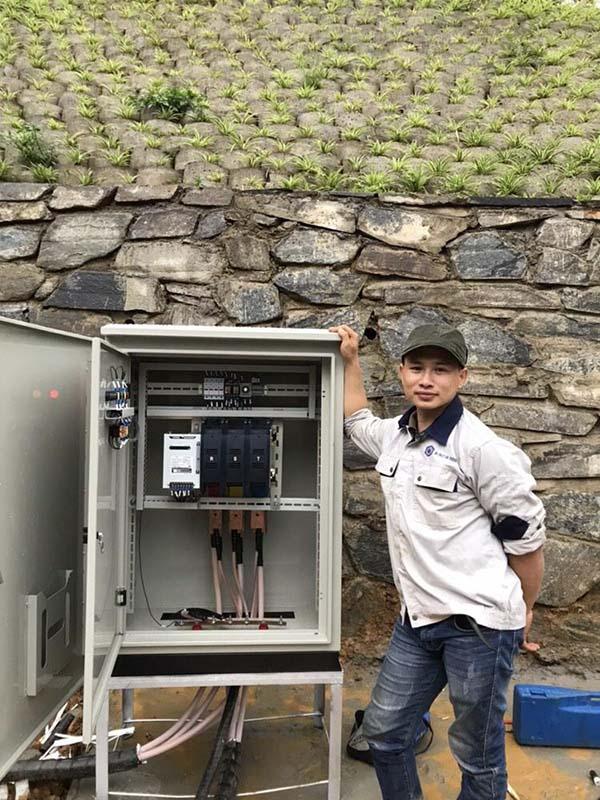 Đấu nối tủ điện ATS với tủ điện tổng của công trình và máy phát điện Cummins 500kVA