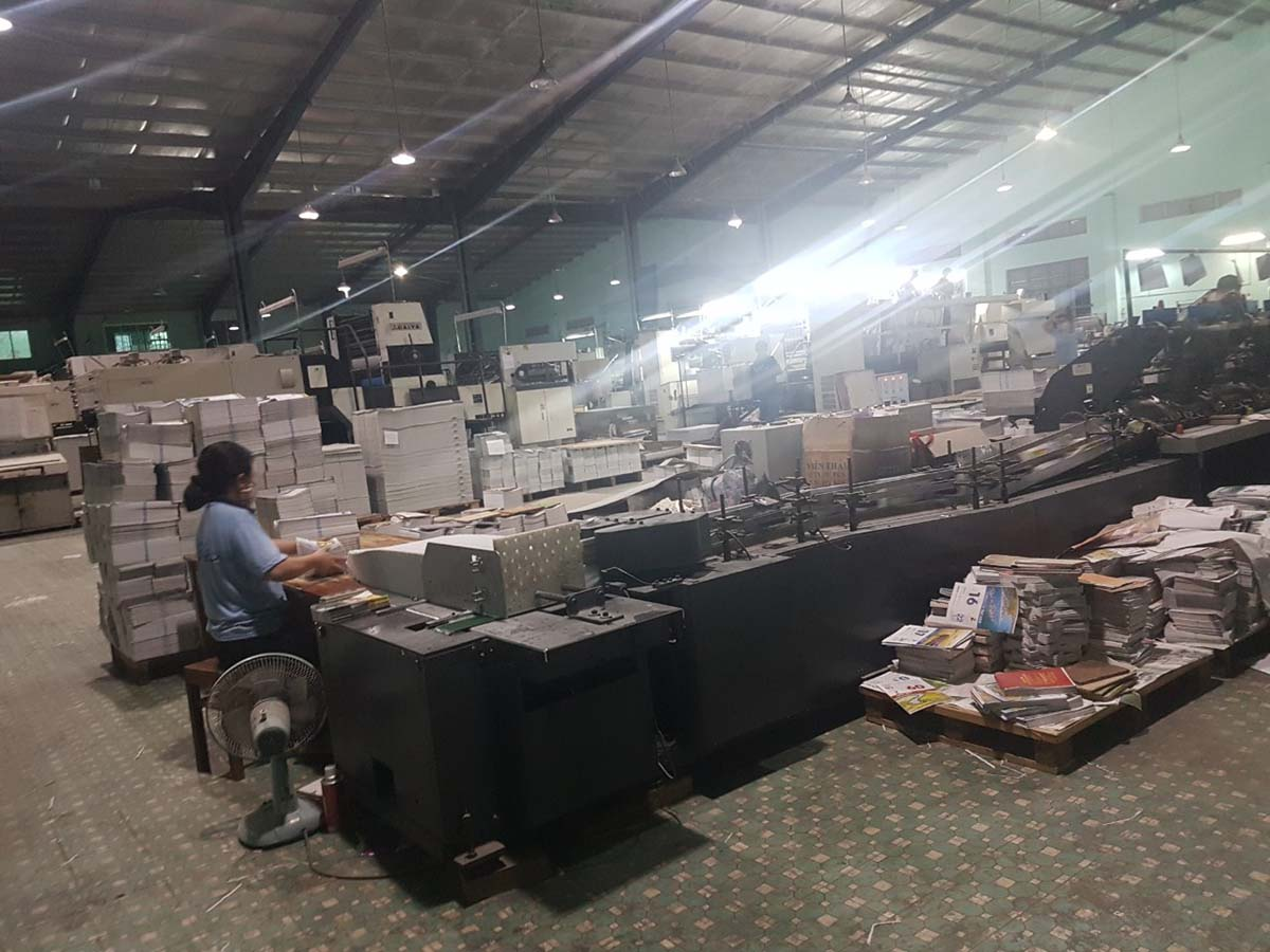 Xưởng sản xuất giấy tại thành phố Quy Nhơn