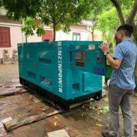 Bàn giao máy phát điện mitsubishi 100kVA tại Làng Sen