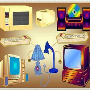Các thiết bị gia đình cần sử dụng điện năng