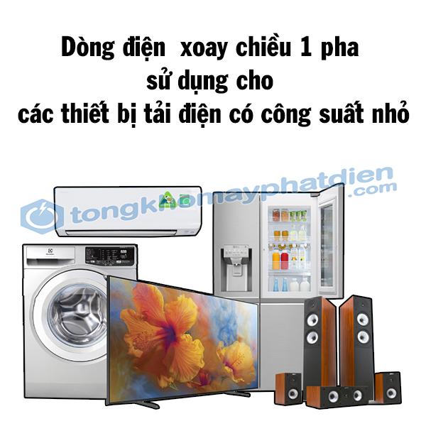 các thiết bị sử dụng dòng điện xoay chiều 1 pha, tongkhomayphatdien.com
