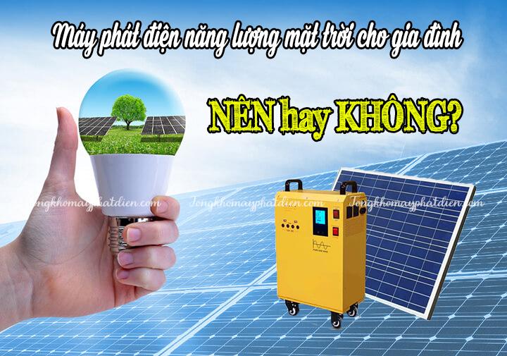 máy phát điện năng lượng mặt trời cho gia đình, tongkhomayphatdien.com
