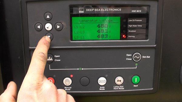 Vận hành máy phát điện tự động