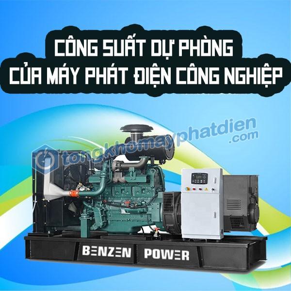 công suất dự phòng máy phát điện công nghiệp