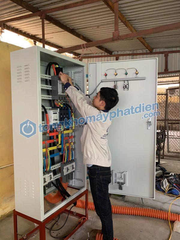 Đấu nối tủ ATS cho máy phát điện Cummins 250kVA