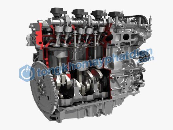 động cơ chạy dầu có nhiều xilanh