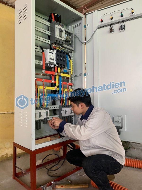 Đấu nối tủ ATS cho máy phát điện Cummins 250kVA tại Hải Dương