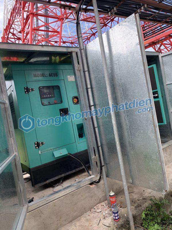 Dự án máy phát điện Cummins 50kVA được đặt tại chân tháp truyền hình